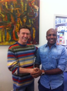 Artistic Director Prasanna with Igal Perry Artistic Director Perry Dance